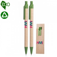 Eco Pen Set 824 (Eco friendly pen and pencil set with Eco cover) - hmi22824
