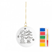 Christmas Ball 101 (Glossy Christmas ornament 5cm included water color set) - hmi99101