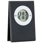 Digital table Clock with note clip on the top (Black) - Digitale Tischuhr mit Notizzettel-Clip auf der Oberseite (Schwarz) | hmi35055