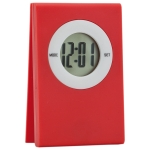 Digital table Clock with note clip on the top (Red) - Digitale Tischuhr mit Notizzettel-Clip auf der Oberseite (Rot) | hmi35055