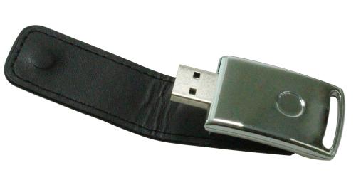Stylish Leather USB Flash 8GB Black