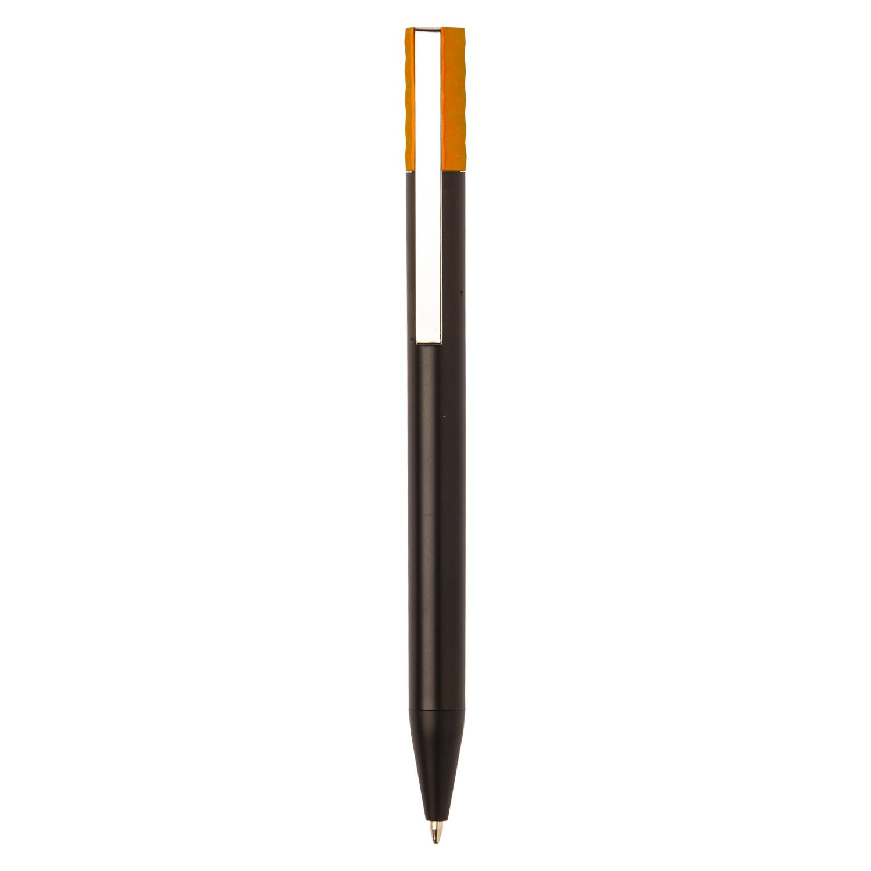 Black Plastic Pen - hmi20271-11 (Orange)