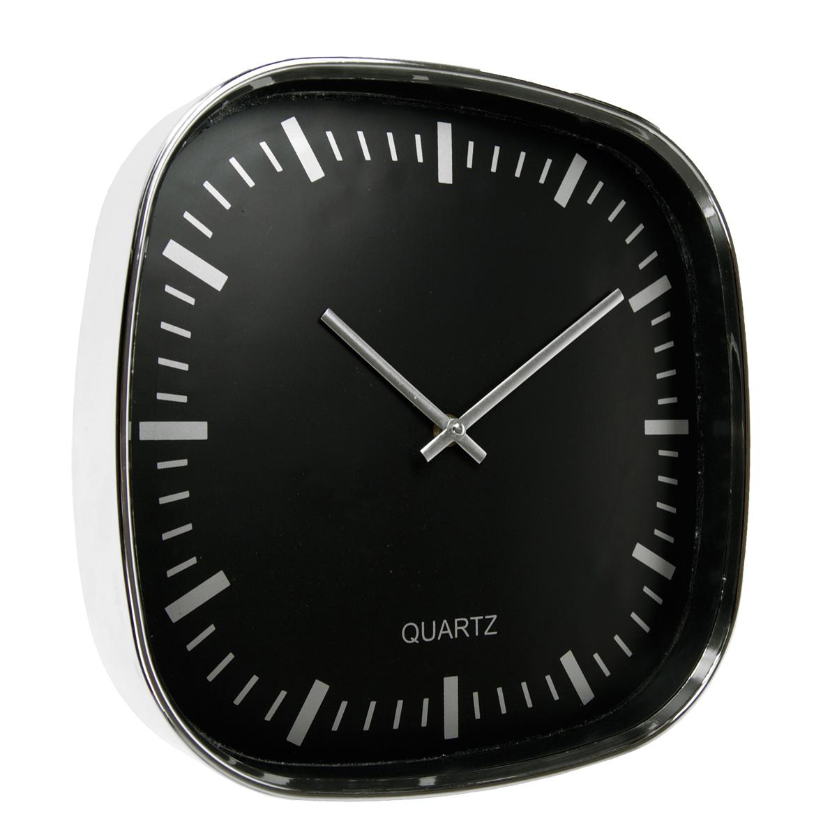 Plastic Wall Clock 30 - hmi36030-01 (Black)