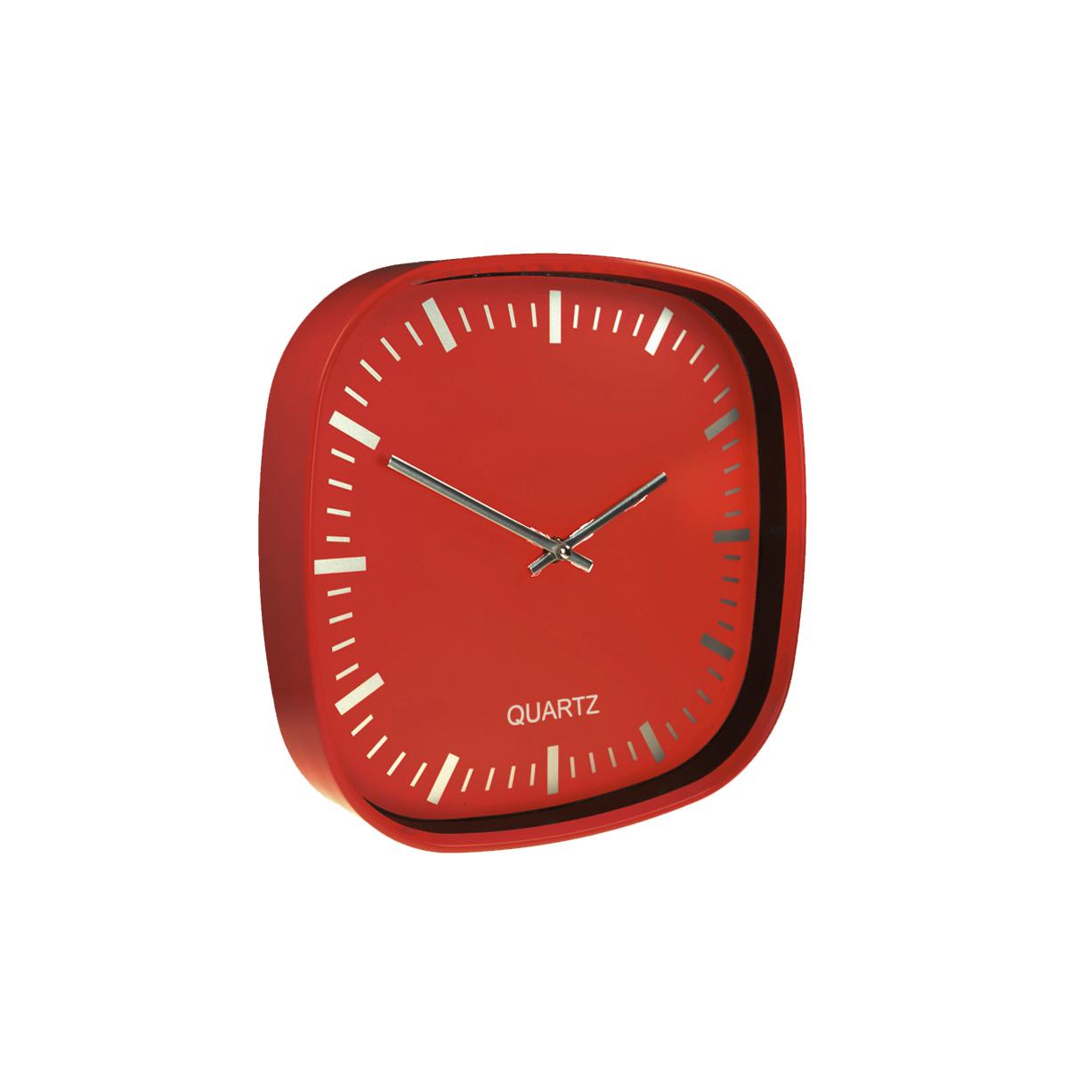Plastic Wall Clock 30 - hmi36030-04 (Red)