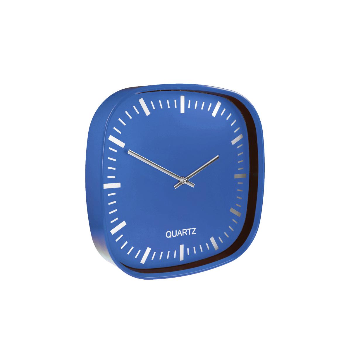 Plastic Wall Clock 30 - hmi36030-07 (Blue)