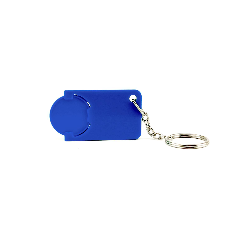 Keychain 039 (Shopping Trolley coin keychain) - hmi47039-07 (Blue