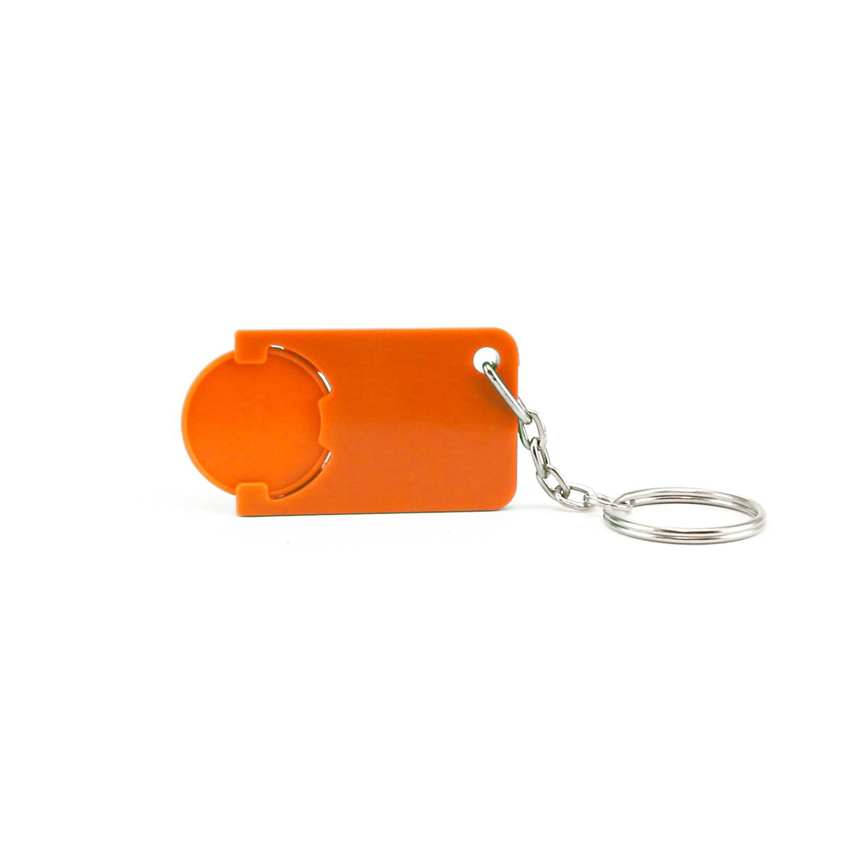 Keychain 039 (Shopping Trolley coin keychain) - hmi47039-11 (Orange)