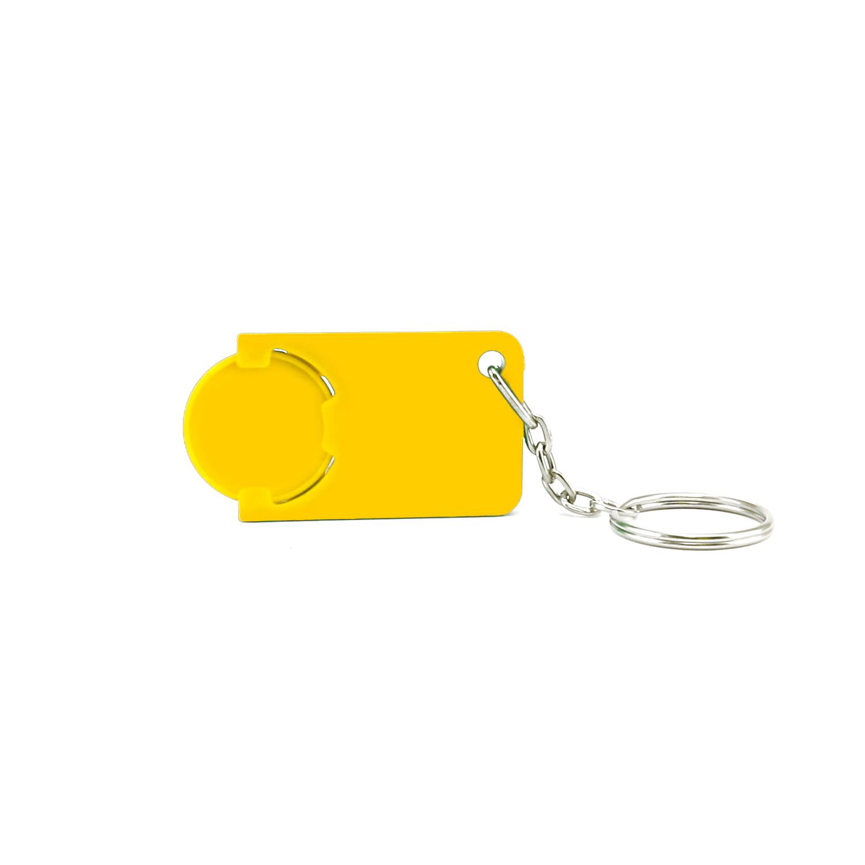 Keychain 039 (Shopping Trolley coin keychain) - hmi47039-12 (Yellow)