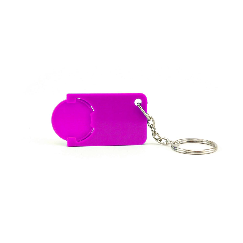 Keychain 039 (Shopping Trolley coin keychain) - hmi47039-13 (Purple)