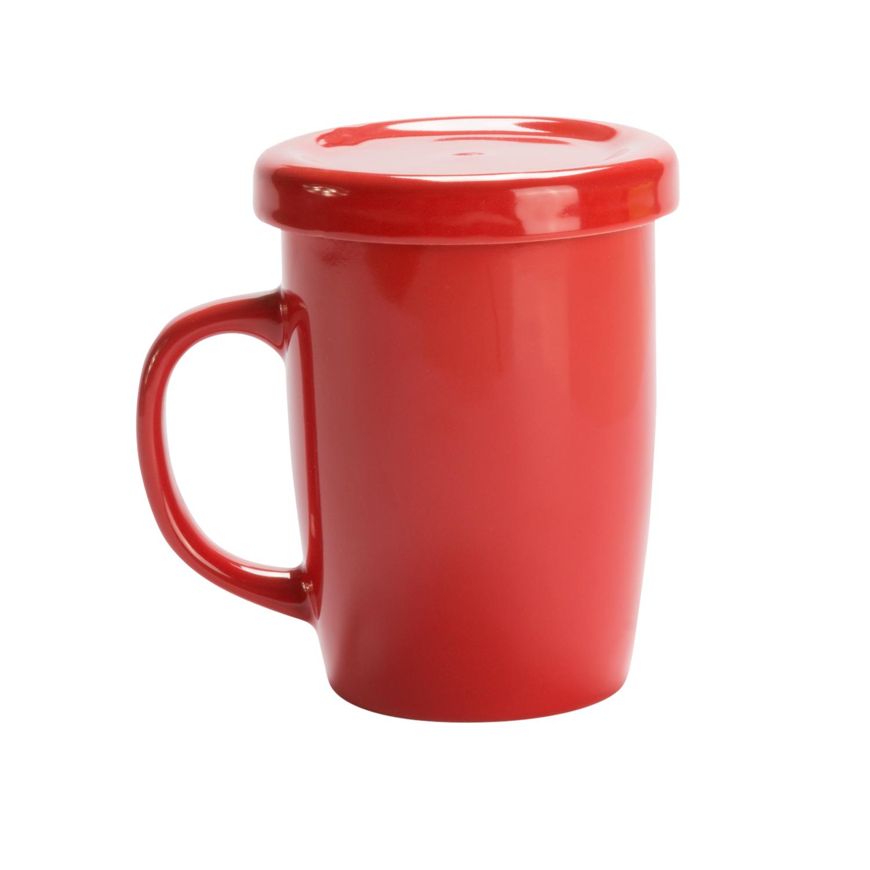 Mug 127 (Tea cup with tab) - hmi74127-04 (Red)