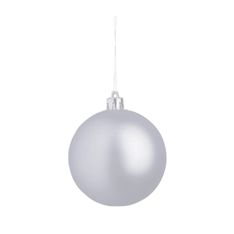 Christmas Ball (Christmas ornament 8cm) - hmi99099-03 (silver)